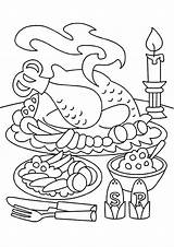 Thanksgiving Coloring Pages Dinner Turkey Feast Sheets Printable Fall Table Meal Drawing Crafts Disney Makeup Weasley Dinokids Ginny Thanks Adult sketch template