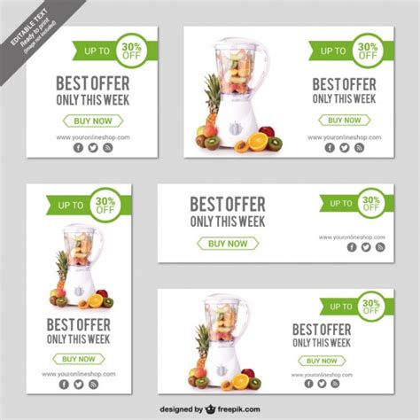 template webstore free online store banner templates vector free download