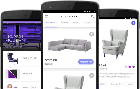 iphone  android application  furniture stores  show