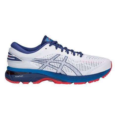 Kasut Asics Gel Kayano chaussures running asics asics gel kayano 25 white blue