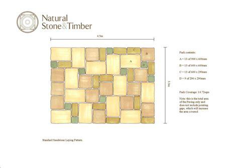 sandstone paving patterns laying patterns natural stone timber ltd