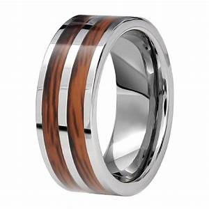 bague homme anneau tungstene 2 rubans en bois vernis a With robe pour mariage cette combinaison bague en argent