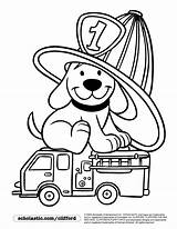 Coloring Fire Pages Truck Clifford Dog Prevention Safety Printable Sparky Preschool Drawing Trucks Firedog Crafts Firefighter Preschoolers Fireman Bing Colouring sketch template