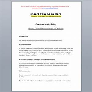 customer service standard policy template accessibility With aoda policy template