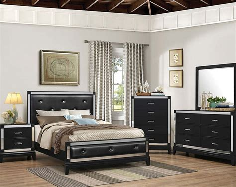 Fancy Mirror Bedroom Set Furniture