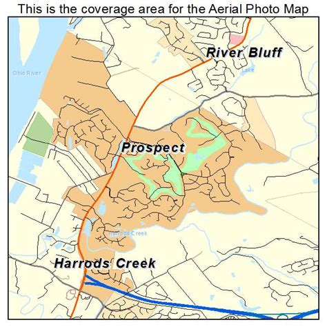 Aerial Photography Map of Prospect, KY Kentucky