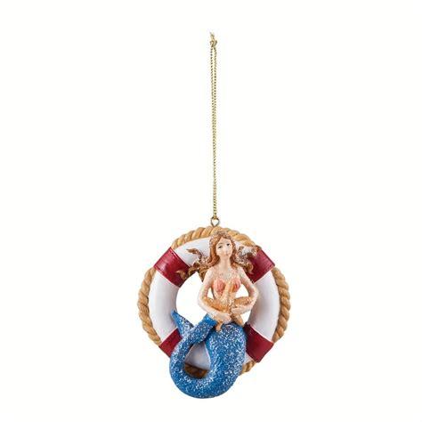 mermaid lifesaver life ring christmas ornament c f enterprises