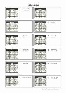 2020 Yearly Calendar Template Word 2017 Accounting Close Calendar 4 4 5 Free Printable