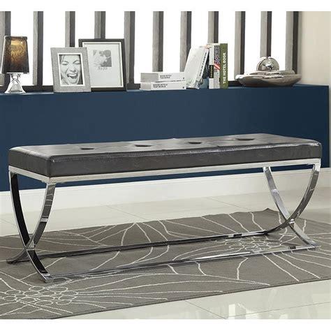 Black X Bench by Black X Bench W Metal Base Coaster Furniture Furniture Cart