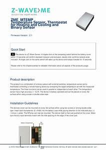 Temperature Sensor With Binary Sensor Input Start Guide
