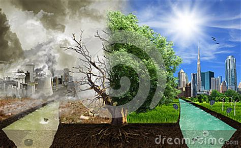 Two Options  Sides , Eco Concept, Eco Digital Art Stock