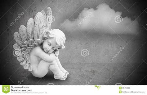 angel  gray background stock photo image