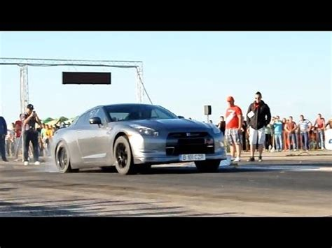 nissan gtr   hp drag racing romania youtube