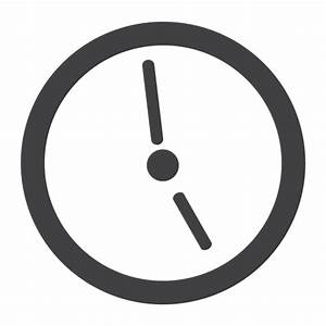 Flat clock icon - Transparent PNG & SVG vector
