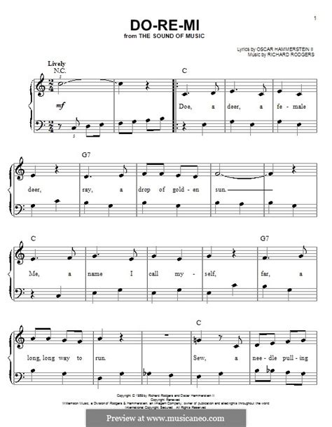 Maria let's start at the very beginning a very good place to start when you read you begin with. Do-Re-Mi (from The Sound of Music) by R. Rodgers - sheet music on MusicaNeo