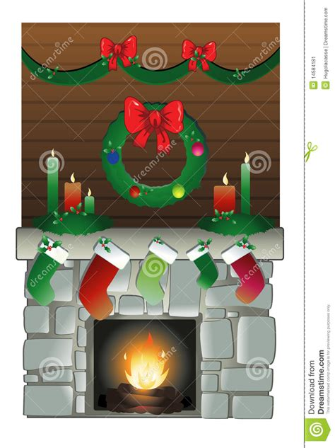 christmas chimney stock vector illustration  green