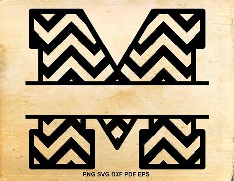 chevron split monogram svg chevron font svg split letter etsy