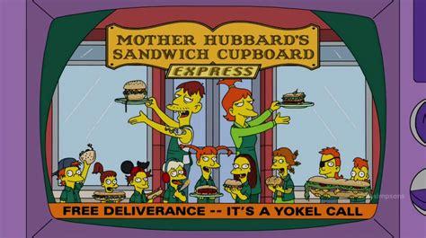 Mrs Hubbards Cupboard by Hubbard S Sandwich Cupboard Express Simpsons Wiki