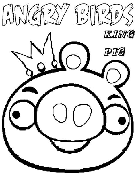 Kleurplaat Angry Birds Pig by Angry Birds King Pig Coloring Pages Coloring Pages
