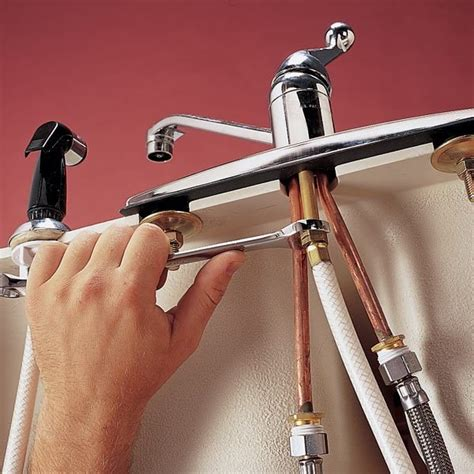replace  sink sprayer  hose  family handyman