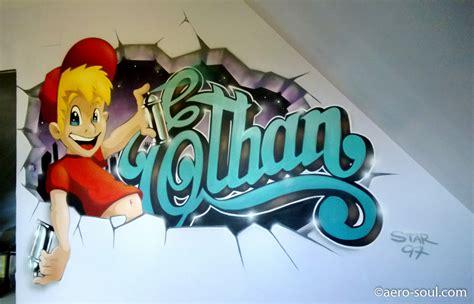chambre d enfant com dcoration murale chambre d enfant ethan graffiti mur cass