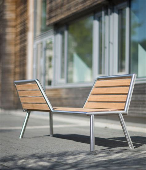 park benches for vis a vis a park bench with opposing views design milk