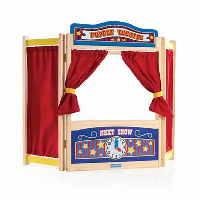 Puppet Theater Wooden Tabletop Play Toys Guidecraft