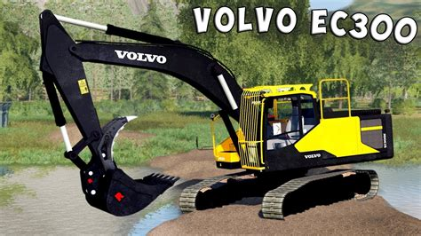 farming simulator  volvo ec excavator youtube