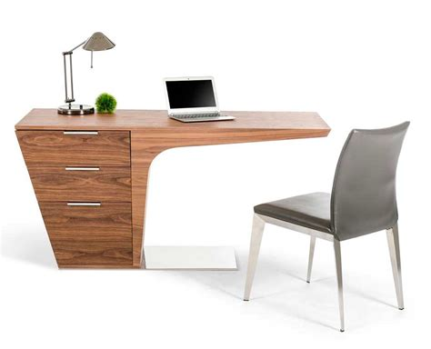 unique computer desk modern walnut desk vg bisk desks