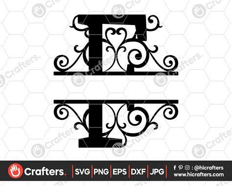 split monogram  svg split letter  svg  crafters