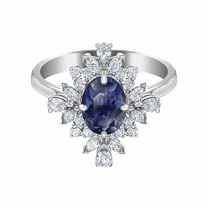 Swarovski Ring Palace Motif Rhodium Plated Rings