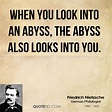 Nietzsche Quotes Abyss. QuotesGram
