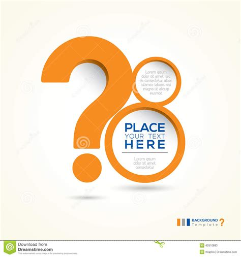 question mark abstract design layout stock vector