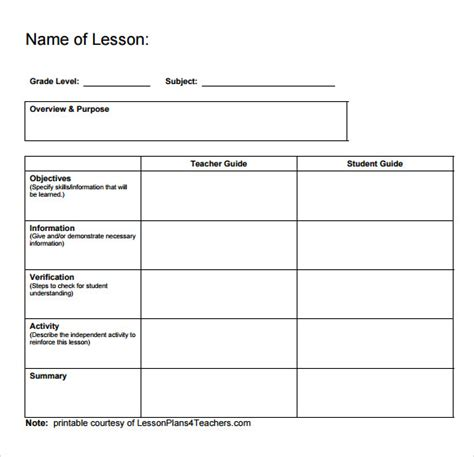 downloadable lesson plan templates pictures  pin