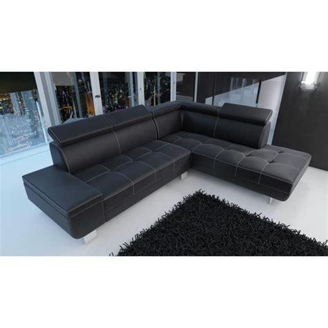 canapé pu canapé d 39 angle moderne daylon simili cuir noir design