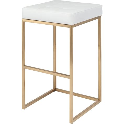 nuevo hgmm chi bar stool  brushed gold stainless