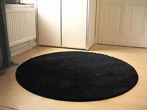 Teppich Rund Schwarz Weiß : hochflor langflor shaggy teppiche in schwarz grau und anthrazit ~ Buech-reservation.com Haus und Dekorationen