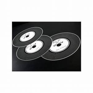 Set De Table Vinyl : set de table disque vinyle noir rock 39 n roll 34 cm les 6 ~ Teatrodelosmanantiales.com Idées de Décoration