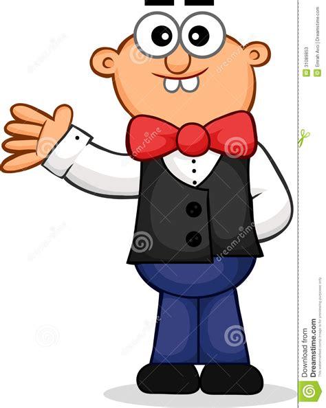 waiter waving cartoon stock vector illustration  drink