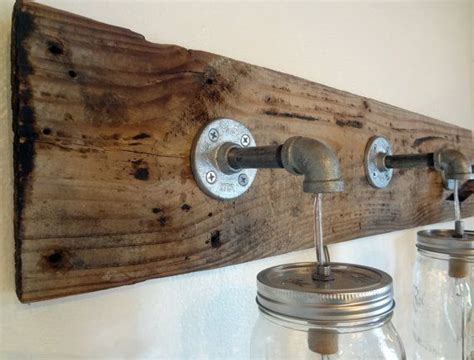 Rustic Bathroom Light Fixtures by Rustic Bathroom Vanity Barn Wood Jar Hanging Light