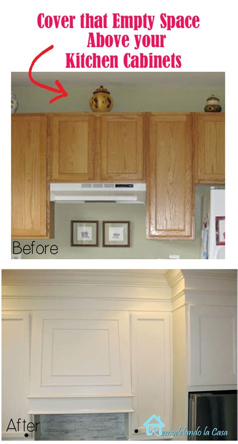 top of kitchen cabinet decor ideas closing the space above the kitchen cabinets remodelando