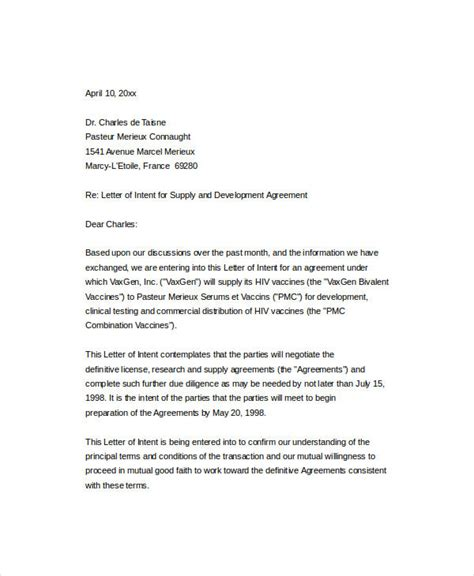 40+ Letter Of Intent Templates  Free Word Documents