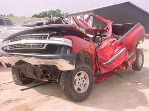wrecked truck pics   silverado sierra