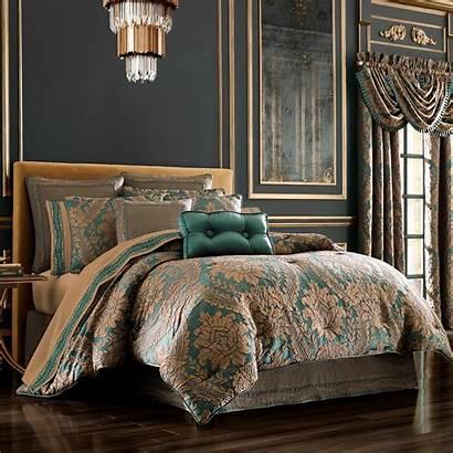 Comforter King Queen Emerald Jacquard Queens Court