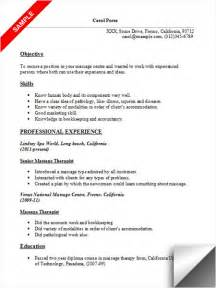 resume objective for therapist therapist resume sle