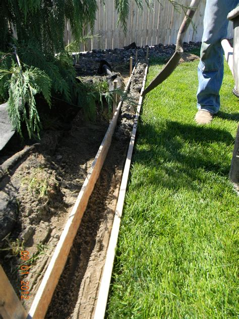 concrete lawn edging diy landscaping curb home is where they love you