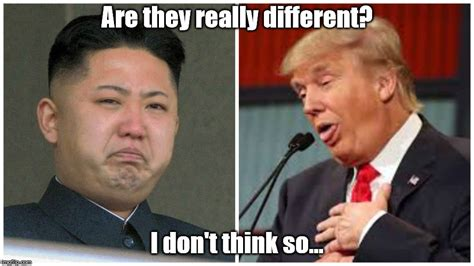 Kim And Trump Memes - who s the crazy one and who s having a bad hair day malialitman com