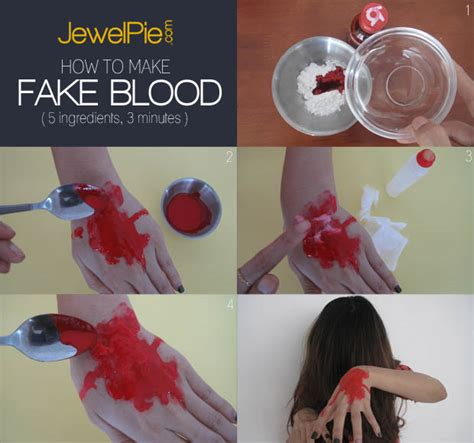 how to make a bloody how to make fake blood for halloween 5 ingredients 3 minutes jewelpie