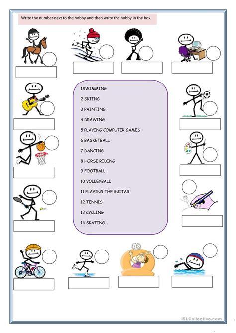 newest hobbies worksheets goodsnyc