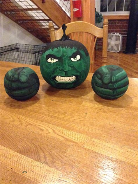 Painted Hulk Pumpkin  Contest  Work  Marvel